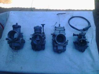 moto de cross repuestos carburadores radiador y encendido