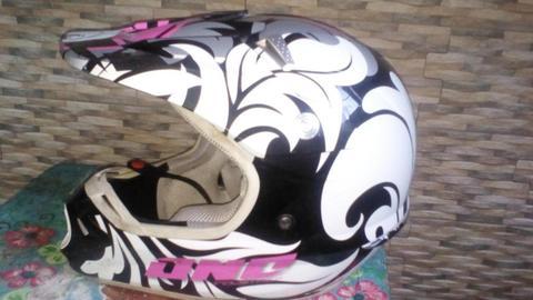 Casco integral de moto crooss