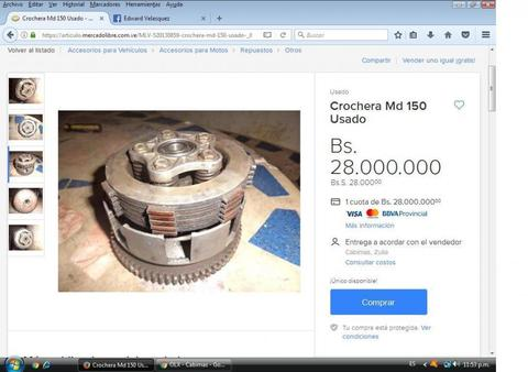 Crochera Md 150 Usado